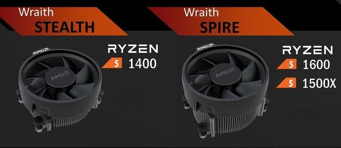 Coolers dos novos processadores Ryzen 5 (Foto: Divulgação/AMD)