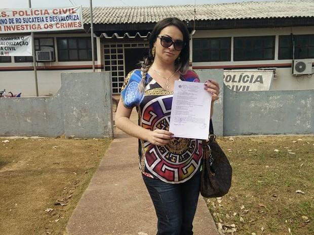 Jordana registrou boletim de ocorrência ao saber de preconceito (Foto: Arquivo Pessoal)