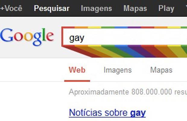 Imagem da caixa de busca do Google em homenagem às Paradas Gays, que ocorrem em junho (Foto: Reprodução/Google.com)
