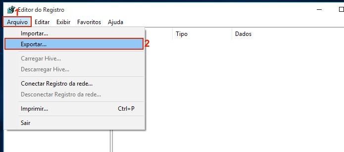 Fazendo um backup do registro do Windows (Foto: Reprodução/Edivaldo Brito)
