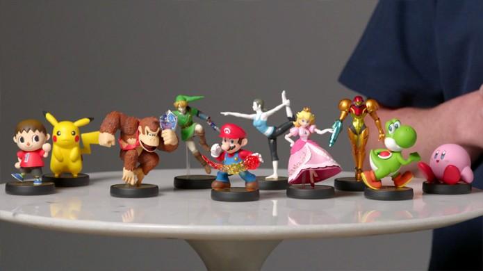 Bonecos Amiibo poderão ser usados em Super Smash Bros. e mais jogos (Foto: Reprodução: YouTube)