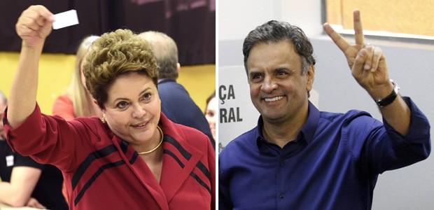 Montagem wide eleições primeiro turno - Dilma Rousseff e Aécio Neves (Foto: Edison Vara/Reuters; Washington Alves/Reuters)