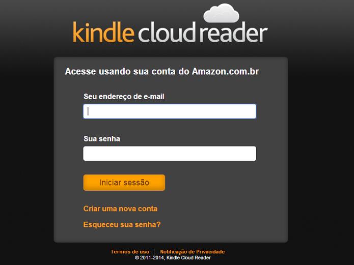 Kindle Cloud Reader chegou ao Brasil (Foto: Aline Jesus/Reprodução)