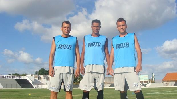 Branco, Palhinha, Tiago Bastos, Treze (Foto: Divulgação / Treze)