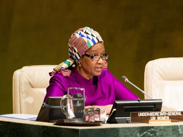 Phumzile Mlambo-Ngcuka, diretora da ONU Mulheres (Foto: GNT)