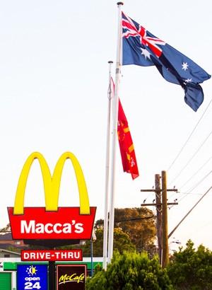 Novo letreiro instalado em restaurante McDonald's em Sydney, na Austrália (Foto: AFP/McDonald's Australia)