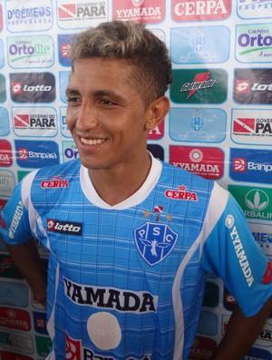 Thiago Potiguar reconhece que a jogada área é a principal característica de Kiros (Foto: Gustavo Pêna/GLOBOESPORTE.COM/PA)