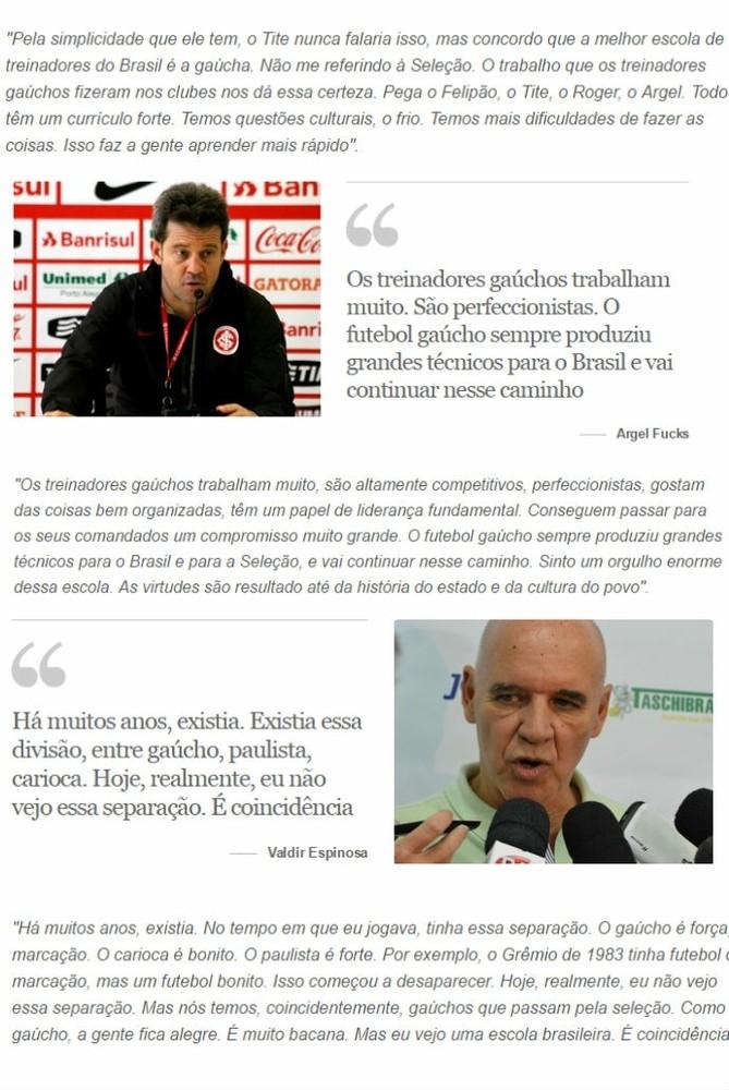 Tite técnicos gaúchos Seleção Tite (Foto: Reprodução)
