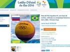 Leilão online oferece de bolas a bandeiras usadas na Olimpíada