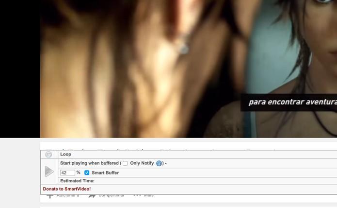 Opções são mostradas ao passar o mouse sobre o vídeo (Foto: Reprodução/André Sugai)