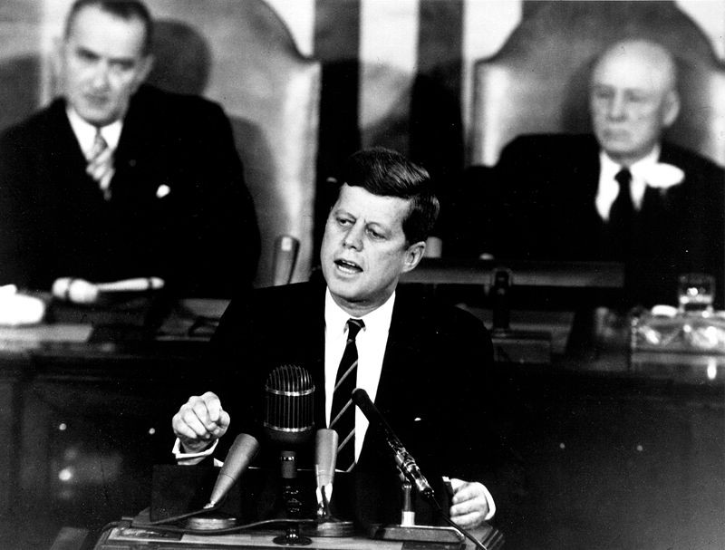 Presidente Kennedy em discurso ao Congresso  (Foto: My American Odyssey/flickr/creative commons)