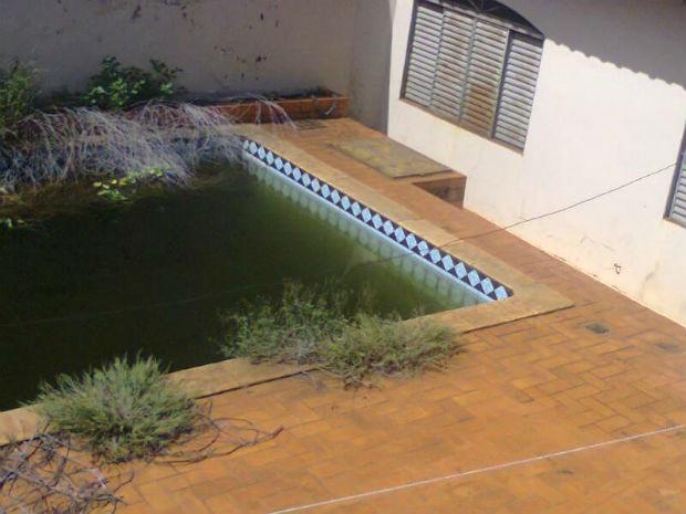 G1 piscina abandonada criadouro de mosquito da dengue for Piscina abandonada rubi