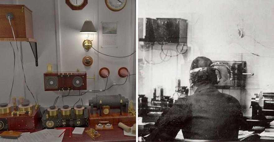 A Sala Marconi permitia que os passageiros enviassem mensagens. No Titanic II, ela será apenas uma homenagem ao navio original (FOTO: DIVULGAÇÃO)