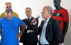 Eduardo Bandeira de Mello, presidente do Flamengo (Foto: Thales Soares)