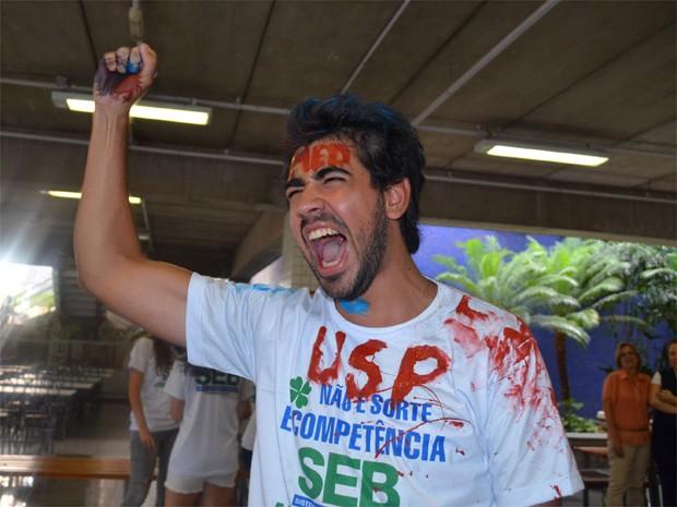 'Não tem como descrever o sentimento de passar na USP', diz Francisco Falleiros de Mello, aprovado em medicina pela Fuvest (Foto: Fernanda Testa/G1)