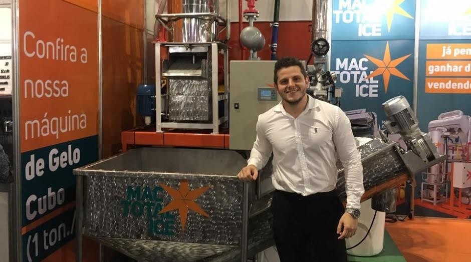 Alexandre de Luca, sócio-fundador MAC Total Ice, durante a Feira do Empreendedor (Foto: Caio Patriani)