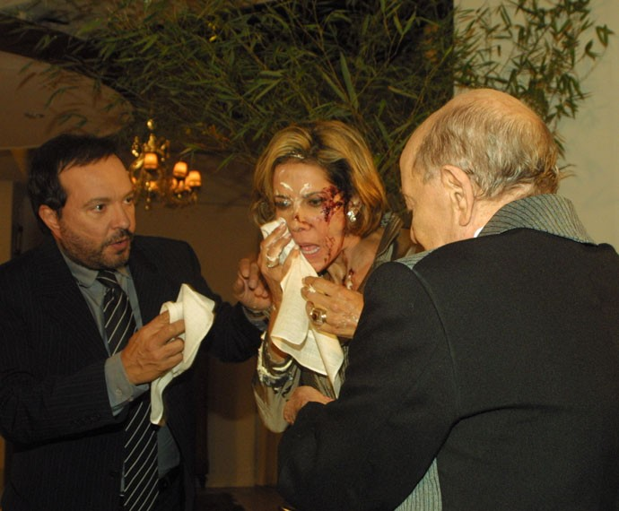 Ao lado de Wolf Maya, seu atual diretor em I Love Paraisópolis, quando fizeram um casal em Senhora do Destino (2004) (Foto: Rogério Domingues/TV Globo)