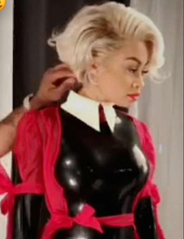 A modelo Blac Chyna como dominatrix (Foto: Instagram)