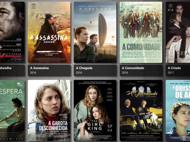 lista de filmes