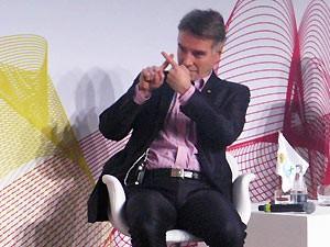 Eike Batista em evento no Rio nesta terça-feira (Foto: Bernardo Tabak/G1)