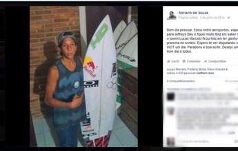 """Alagoano que ganhou prancha de Mineirinho diz: """"É um amuleto mágico"""""""