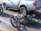 Em Santarém, acidente entre carro e  motos deixa duas pessoas feridas