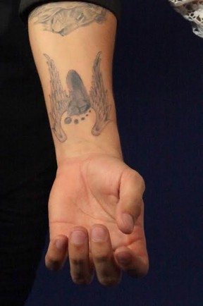 Tatuagem pé com asas