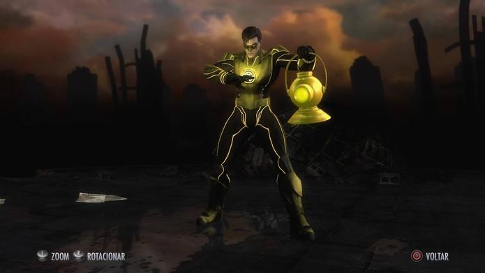 Skins de Injustice: Hal Jardon Yellow Lantern (Foto: Reprodução/Felipe Vinha)