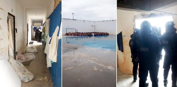Revista foi feita nos pavilhões 2 e 3 de Alcaçuz, maior unidade prisional do RN (Foto: Divulgação/Sejuc)