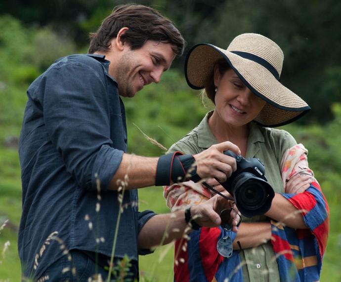 Vladimir Brichta e Adriana Esteves no filme 'Real Beleza' (Foto: Divulgação)