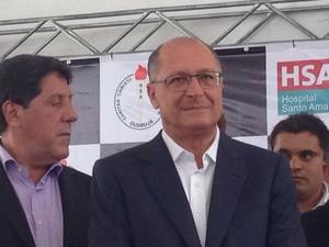 Visita Geraldo Alckmin (Foto: Mariane Rossi / G1)