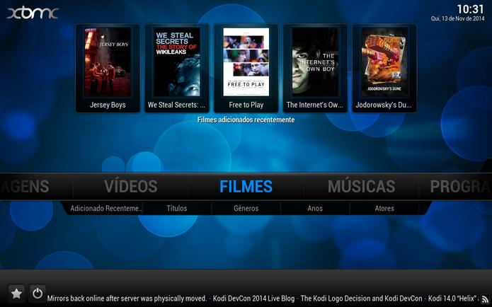Acessando a opção de Filmes (Foto: Reprodução/André Sugai)