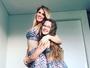 Susana Werner combina roupa com a filha em foto: 'Vamos malhar muito'