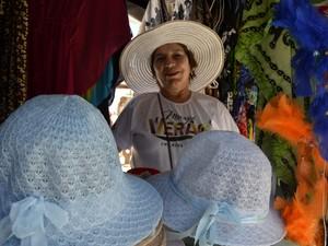 Alzira Tavares, 50 anos, vendedora ambulante (Foto: Maiara Pires/G1)