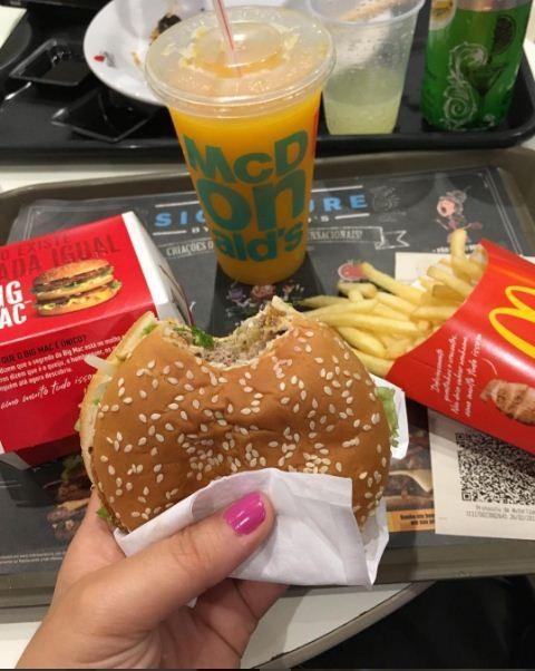 McDonald's depois do bloquinho: quem nunca? (Foto: Reprodução/Instagram)