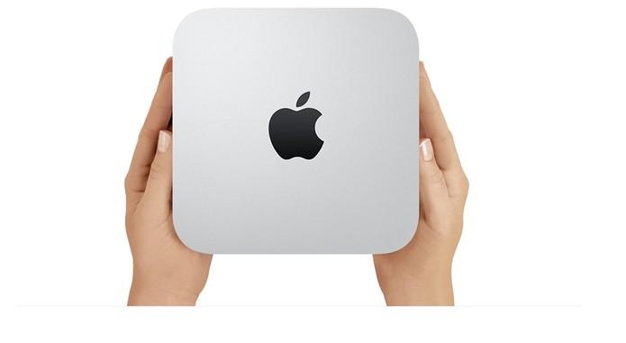 Mac Mini é o computador que cabe no bolso (Foto: Divulgação/Apple)