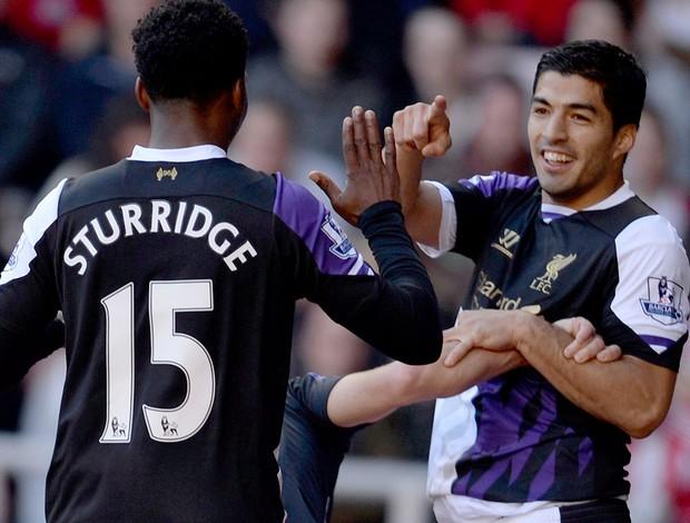 Luis Suarez Liverpool Comemoração (Foto: Reuters Media Express)