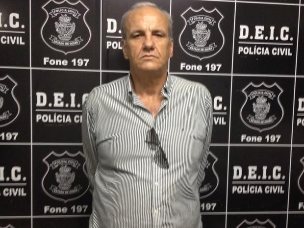 Ogier de Oliveira Lobo Filho, Preso fazendeiro suspeito de mandar matar primo por disputa de terras em Goiás (Foto: Sílvio Túlio/G1)