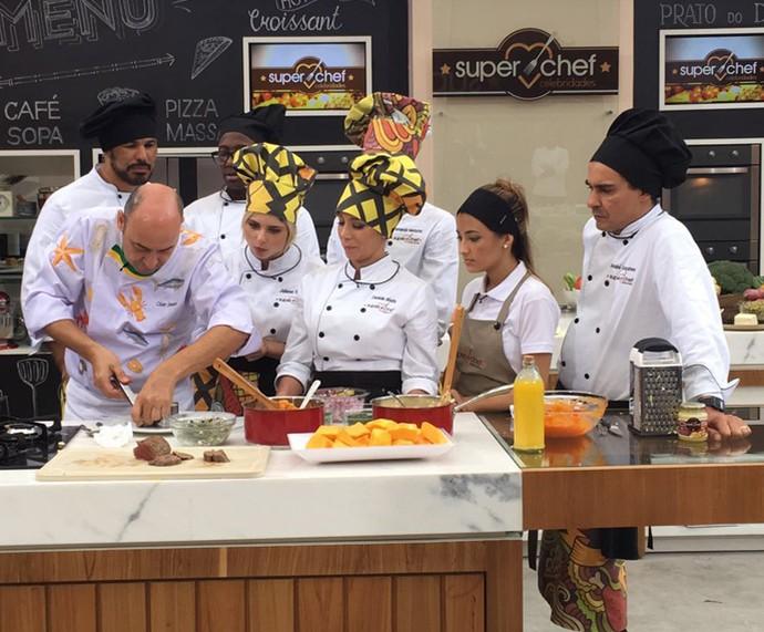 Workshop com o chef César Santos sobre carne de sol (Foto: Ícaro Martins / Gshow)