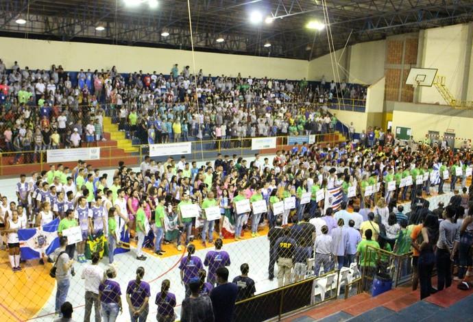Cerimônia de abertura dos Jogos Escolares da Juventude em MS (Foto: Divulgação/Fundesporte)