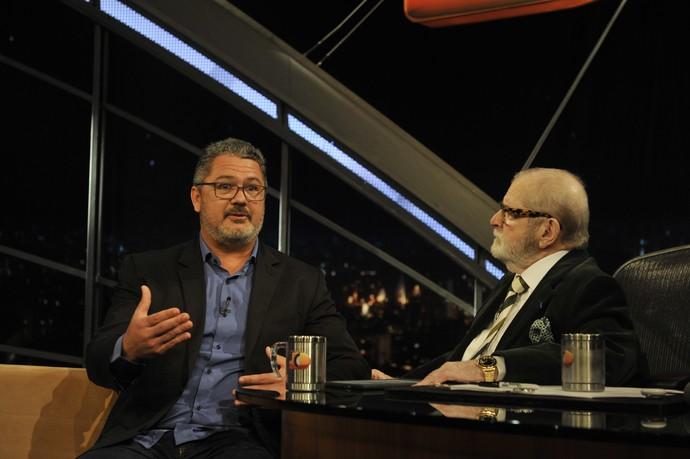 Rogério Micale durante entrevista no 'Programa do Jô' (Foto: Reinaldo Marques/TV Globo)