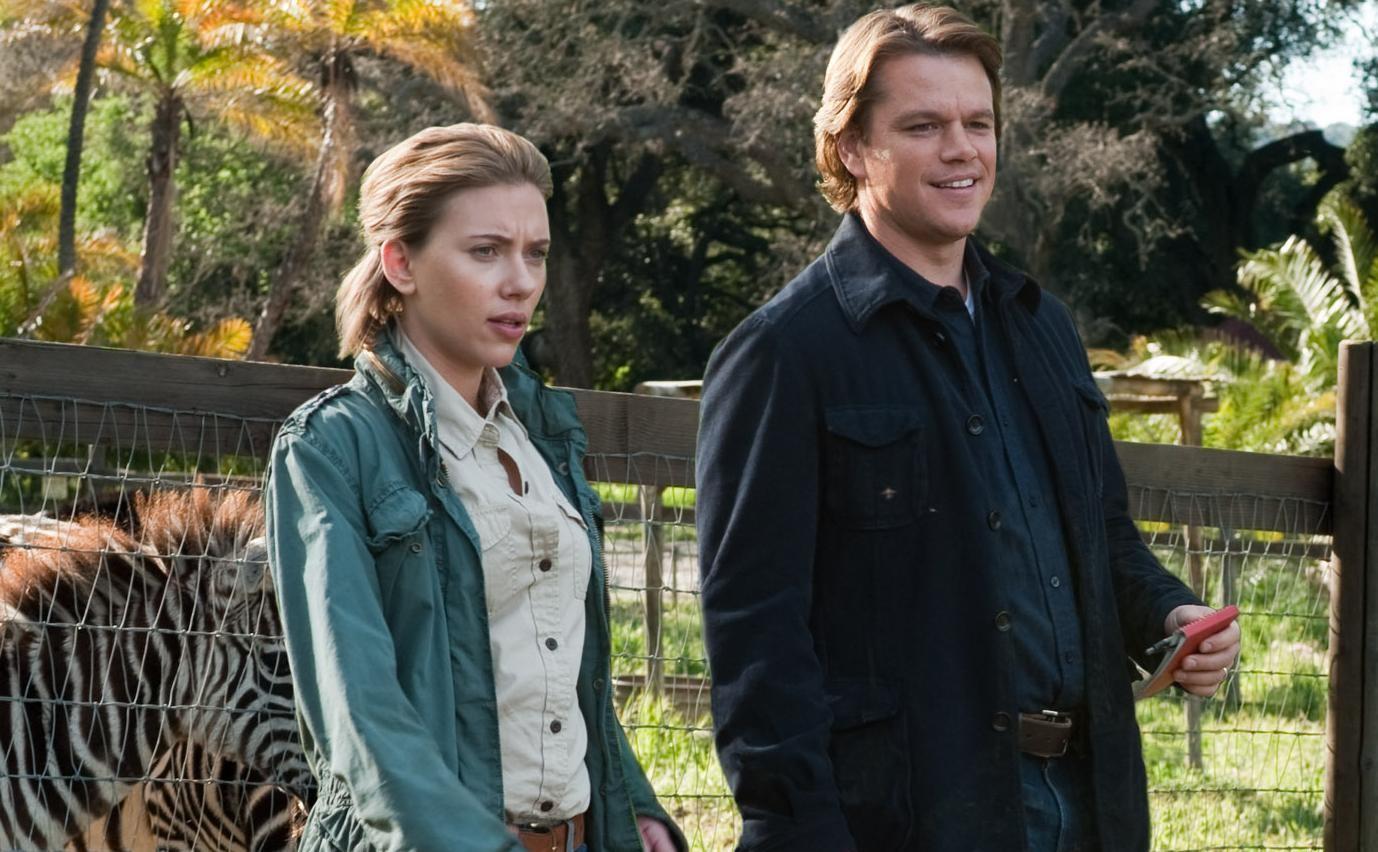 Matt Damon e Scarlett Johansson em 'Compramos um Zoológico (Foto: Divulgação)