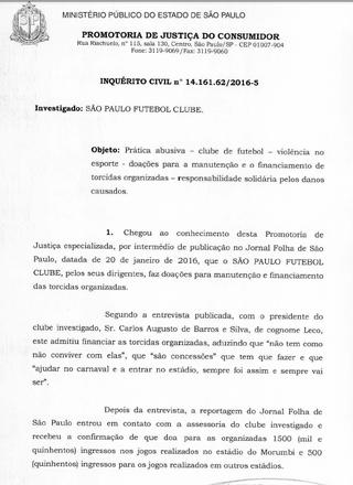 ministério publico abre inquérito contra torcidas organizadas (Foto: Reprodução)