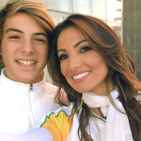 Patrícia Poeta e o filho, Felipe (Foto: Reprodução)