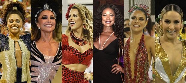 Juliana Alves, Sabrina Sato, Viviane Araujo, Cris Vianna, Paloma Bernardi e Claudia Leitte (Foto: AgNews - Divulgação )
