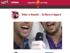 Segundos em Vozes (Foto: Gshow / The Voice Brasil)