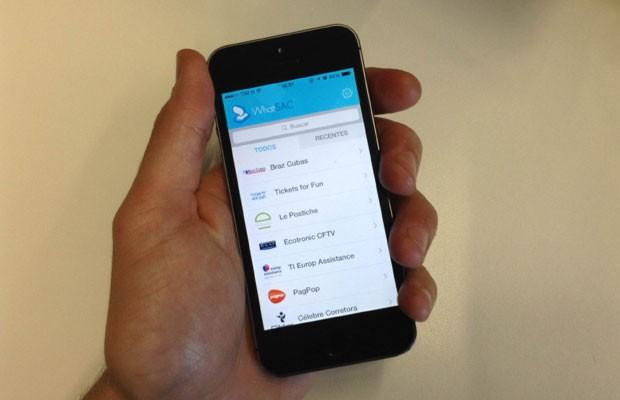 Inspirado no WhatsApp, aplicativo WhatSAC funciona como canal de atendimento ao consumidor para empresas. (Foto: G1)