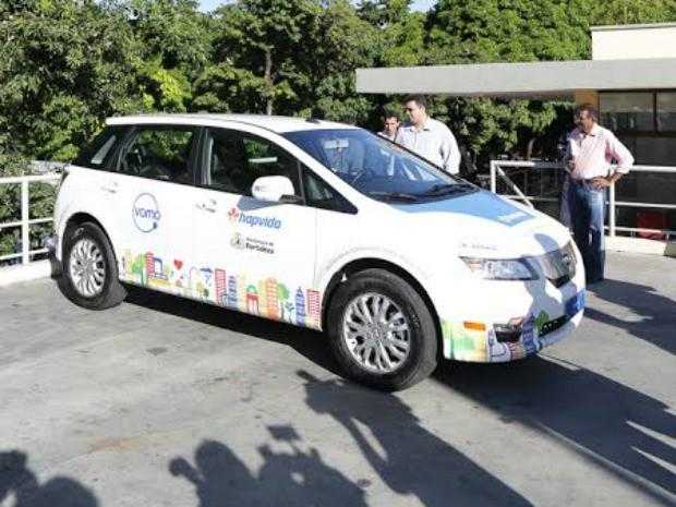Zhidou é o segundo modelo de veículo que ficará disponível pelo sistema VAMO (Foto: Prefeitura de Fortaleza/Divulgação)