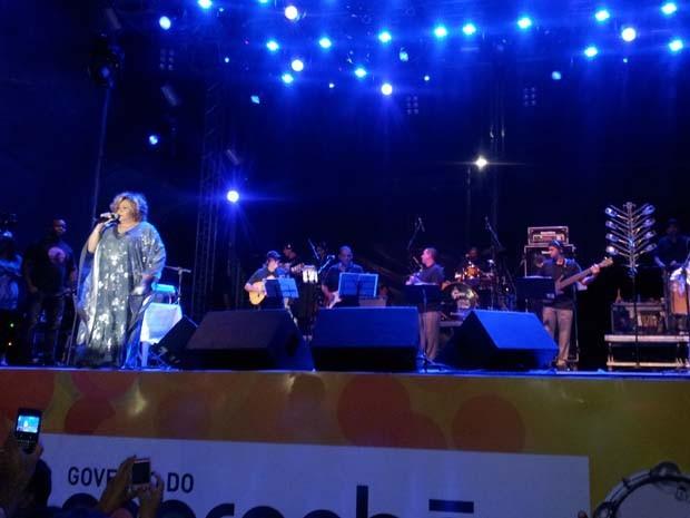 Além de São Luís, Alcione se apresentará também em Recife (Foto: Igor Almeida/G1)