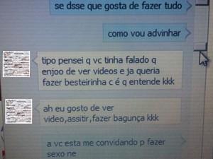 Conversa entre suspeito e a dona de casa de Piracicaba (Foto: Reprodução/Facebook)